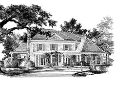 Home Plans HOMEPW24001 - 3,412 Square Feet, 5 Bedroom 4 Bathroom Country Home with 2 Garage Bays