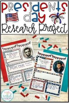 This Presidents Day research project is perfect for primary grades! This presidents day activity guides students through research, has them create an informational poster, AND give a presidential speech!!