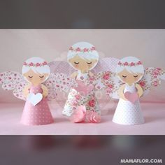 Shabby Chic Home Decor Diy And Crafts, Crafts For Kids, Paper Crafts, Christmas Angels, Christmas Crafts, Baptism Cookies, Paper Angel, Angel Crafts, First Communion