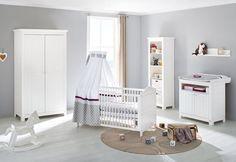 SOLDES - Chambre - Composition chambre bébé design avec lit évolutif 140x70 cm coloris blanc - Comforium