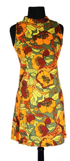 Vintage 1960s Floral Mad Men Style Bright by VarietyVintagebyALD, $41.50