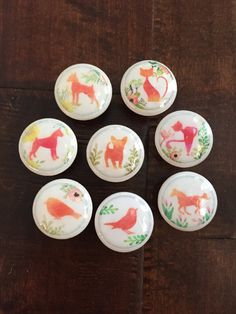 15 inch cabinet knobs drawer pulls orange animal and bird silhouettes 15 inch knob pulls