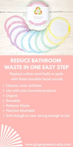 Switch out your make-up wipes or cotton wool. Use these organic cotton rounds in exactly the same way, just chuck in the wash instead of the trash! Non-organic cotton is responsible for almost of global pesticide use - yuk! Make Up Remover, Eye Makeup Remover, Minimalist Lifestyle, Wash Your Face, Cotton Pads, How To Remove, How To Make, Face Care