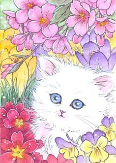 Free Shipping  Open Edition ACEO Print  White by AuroraWings $4.00