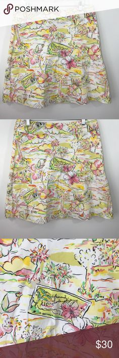 """Express Hawaiian Aloha Hibiscus Floral Skirt 10 Gorgeous summer skirt from Express! Has an Hawaiian theme with Hibiscus flowers! So fun! Size 10 has a 34"""" waist and a 23"""" length. Make an offer! Express Skirts A-Line or Full"""
