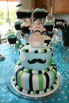 Mustache Bash - It's a Boy Baby Shower cake :)