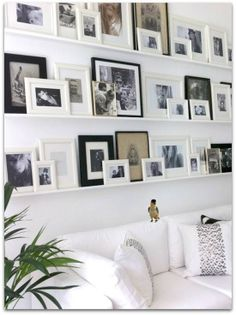 A fun and unique way to liven up your living space. #pictures #frames