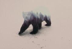 """Großartige Serie von Doppelbelichtungs-Portraits von Tieren, die mit ihrer Umwelt zu verschmelzen scheinen von dem aus Norwegen kommenden Fotografen und Grafikdesigner Andreas Lie mit dem Namen """"The Animal Kingdom"""". So ein ganz kleines bißchen erinnern mich die Arbeiten an die Double Exposure Fotos von Brandon Kidwell, die wir erst im März hier auf WHUDAT hatten. Oder an die Werke von... Weiterlesen"""