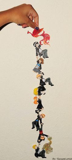 Harry Potter-Chibi Chain by yuuyami-artist.deviantart.com lol i love these! so funny!