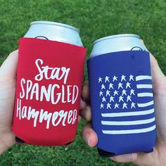 Perfect ‪#‎koozies‬ for the ‪#‎4th‬ of July Holiday... ‪#‎merica‬ ‪#‎redwhite‬&blue