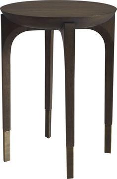 Cradling a solid block of wood, four graceful legs are capped with a decorative wrapped metal detail. Small Tables, End Tables, Occasional Tables, Extendable Dining Table, Dining Room Table, Table Furniture, Furniture Design, Corner Table, Wood Blocks