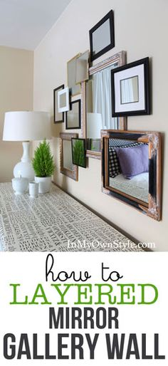 Create a raised and layered gallery wall for photo frames and or mirrors. Use these easy and inexpensive DIY picture frame risers instead of the $16 a piece Pottery Barn ones. In My Own Style