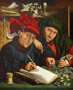 The Tax Collectors by Quentin Massys (1466-1530)