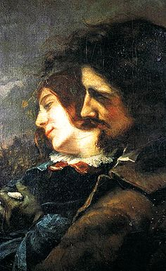Gustave Courbet (French, Realism, 1819–1877): Lovers in the Countryside , 1844 - Google Search
