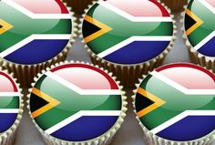 24 X South Africa African Flags Edible Cupcake Toppers Cake Olympics Rice Paper African Flags, Flag Cake, Edible Cupcake Toppers, Rice Paper, Olympics, South Africa, Garden, Ebay, Garten