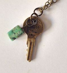Vintage Key Jewelry Light the Way Turquoise Necklace on Etsy, $18.00