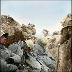 A power-nap during the battle.