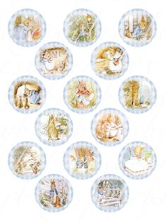 digital download of 15 peter rabbit cupcake toppers by boxesbybrkr