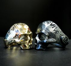 Custom Lost Wax Memento Mori Sterling Silver Skull Ring Anarchy | eBay