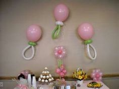 Balloon decorations for baby showers