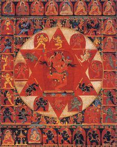 Mandala of Vajravarahi - タンカ