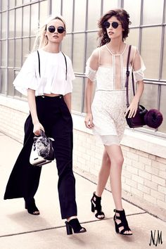 Add a little edge to your ensemble with Kendall and Kylie. Pair wide-leg suspenders with a cropped tee for a modern, on-trend look.
