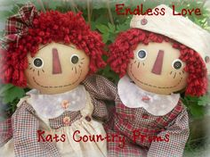 Primitive Raggedy Ann and Andy EPATTERN #160 Instant Download HAFAIR FAAP by KatsCountryPrims on Etsy https://www.etsy.com/listing/190391013/primitive-raggedy-ann-and-andy-epattern