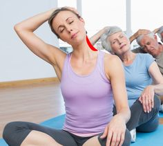 Neck and shoulder pain are the first things to a pain when having to sit too long or when your muscles are sore. These neck and shoulder stretches are the most effective when it comes to getting relief from pain and to improve circulation. Neck And Shoulder Stretches, Neck And Shoulder Pain, Muscle Pain Relief, Neck Pain Relief, Back Pain Exercises, Stretching Exercises, Trapezius Stretch, Cow Face Pose, Tight Shoulders