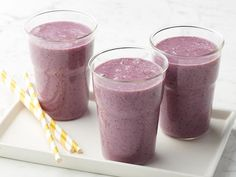 Get Buff Smoothie Recipe from Alton.  Put froz fruit and milk in the blender the night before.