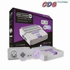 gray 2 in 1 retron 2 nes/#SNES video game system console f from $39.99