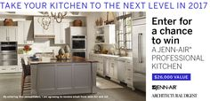 Enter for a chance to win a suite of Jenn-Air kitchen appliances worth $26,000.  Ends: 03/29/2017 Value: $26,000.00 Eligibility: US (No AK or HI) 21+ 1 Entry!  Enter: http://giveawayplay.com/2017/02/04/26000-jennair-kitchen-sweepstakes-architectural-digest/