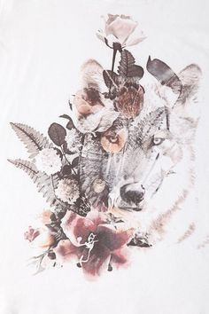 Want the subtle wolf as a tattoo behind roses: