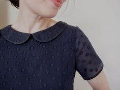 Colette Patterns Laurel blouse with Peter Pan collar