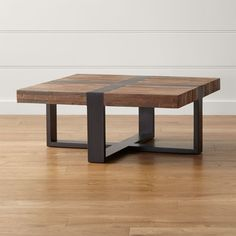 Each reclaimed wood coffee table is unique with inherent differences in the woods that are heightened by contrasting natural and ebony finishes. The Seguro Square Coffee Table is a Crate and Barrel exclusive. Rectangle Dining Table, Live Edge Table, Square Tables, Living Furniture, Unique Furniture, Furniture Design, Rustic Furniture, Outdoor Furniture, Coffee Table Canada