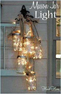 DIY:  Mason Jar Light Tutorial - cute & easy DIY! by marcianita