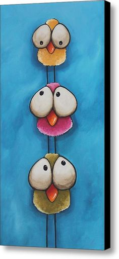 The Bird Tower Canvas Print / Canvas Art By Lucia Stewart