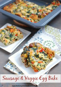 This Sausage & Vegetable Egg Bake via @lclivingston can be made the night before then baked in the morning for a savory breakfast dish