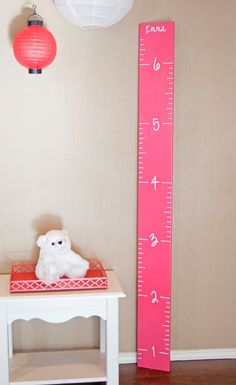 Easy Diy Ruler Growth Chart  Growth Charts Chart And Woods
