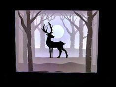 Deer shadowbox - YouTube Shadow Box, Night Light, Deer, Moose Art, Make It Yourself, Youtube, Handmade, Hand Made, Youtubers