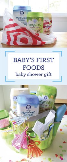 Looking for a thoughtful, practical, and unique baby shower gift? Check out this collection of baby's first foods! By grabbing Gerber® Infant Cereals from Target you  can stock mom up with essentials she'll really appreciate when her new bundle of joy is ready to transition to solid foods—just two servings of the Infant Cereals meet 90% of your baby's daily iron!