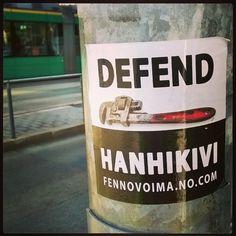 Defend #Hanhikivi #DefendHanhikivi #eifennovoimaa #stopfennovoima #nonukes #fennovoimaNOcom #Helsinki 31.3.16