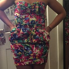 Dress Cute party dress Great with strappy sandals Divided Dresses Strapless
