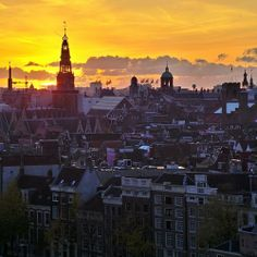 Beautiful view of Amsterdam's rooftops