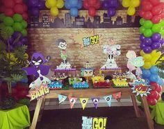 #teentitansgoparty #jovenstitãs #festajovenstitans #festacompletaemdomicilio #decoracaojovenstitans #amofesta #amofestas #sunnyfestas #festassunny