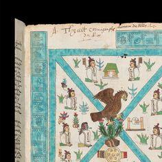 Codex Mendoza by Manuvo Ancient Alphabets, Aztec Culture, Mendoza, Ap Art, Deities, Art History, Vintage World Maps, Quilts, Cool Stuff