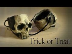 Halloween; Simple Trick or Treat Basket / Bucket - Polymer Clay Tutorial - YouTube