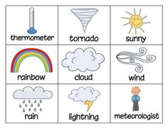 Weather Words Concentration Game