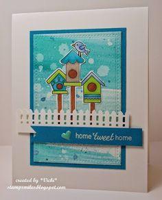 Stamp Smiles: Water-colored Home TWEET Home | Tweet Talk stamp set by Newton's Nook Designs