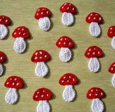 mushrooms are still a hit crochet applications
