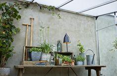 Härlig inredning i Willab Gardens växthus Veranda från Juliana.